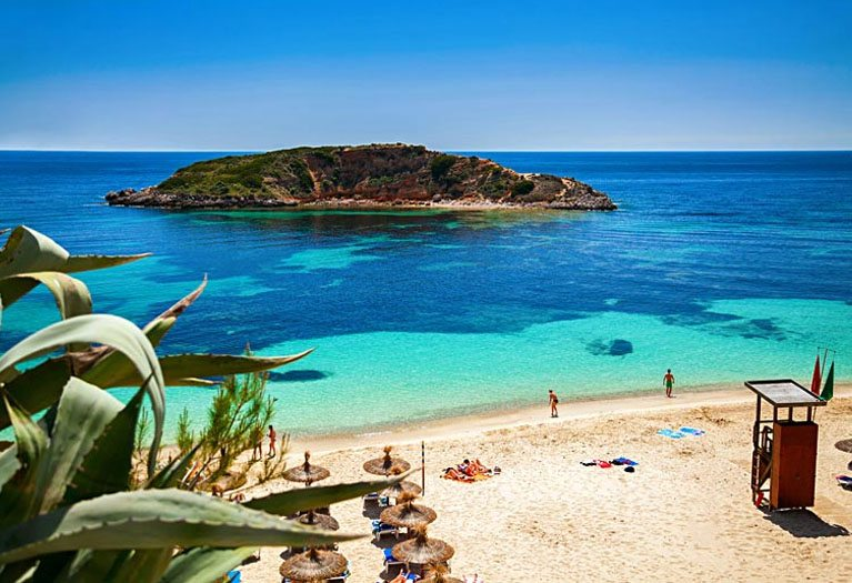 Portals Beach is located near Portals Nous in the municipality of Calvia on the south west coast of Majorca