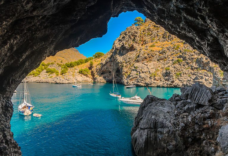 This beautiful location nestles on the northwest coast of the island of Majorca and an ideal destination for a boat trip